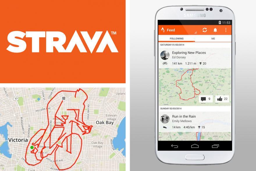 Приложение для бега Strava