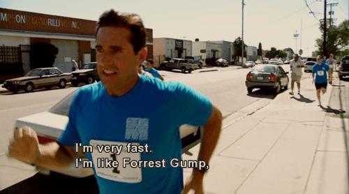 Майкл Скотт на первой пробежке