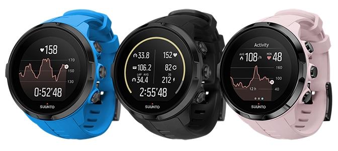 Три цвета Suunto Spartan Sport Wrist HR