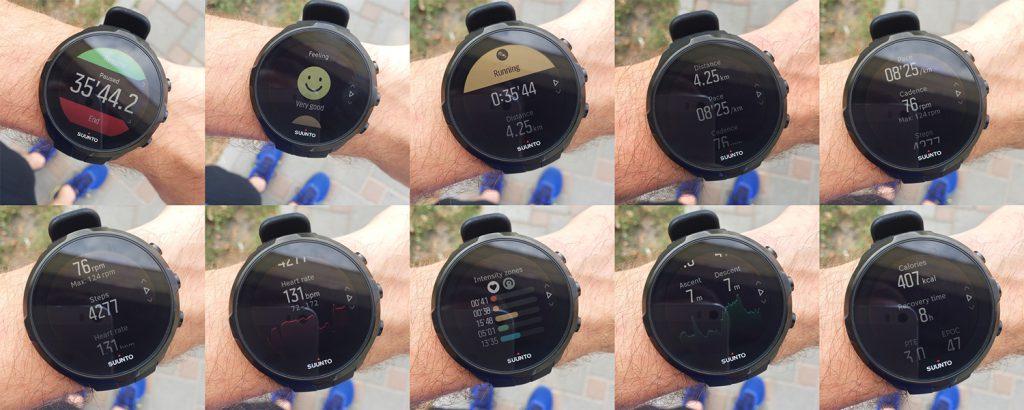 Результаты беговой тренировки в Suunto Spartan Sport Wrist HR