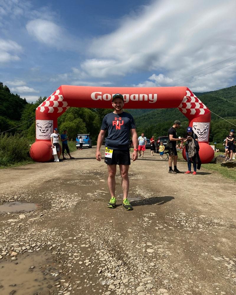 Я на финише Gorgany Skole Ultra Trail 2021