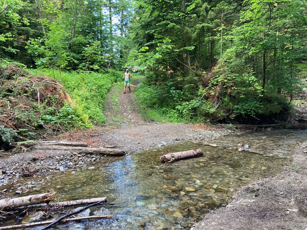 Маршрут на дистанции 20 километров на Gorgany Skole Ultra Trail