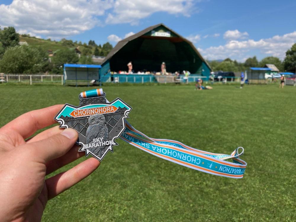Медаль на Chornohora Sky Marathon 2021